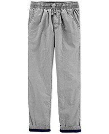 Little & Big Boys Gray Poplin Play Pants