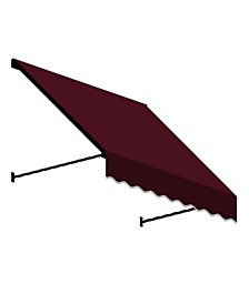 """3' Santa Fe Twisted Rope Arm Window/Entry Awning, 31"""" H x 12"""" D"""