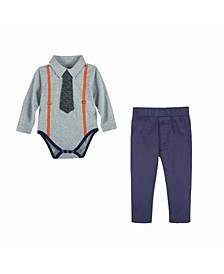 Baby Boy's Polo Shirtzie Set