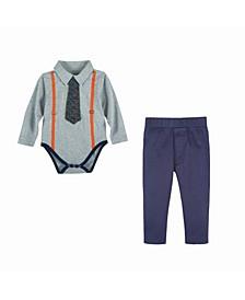 Baby Boy's Polo Shirtzie Set