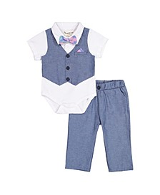 Beedle & Thread Baby Boy's Polo Shirtzie Pant Set