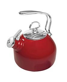 1.8Qt. Classic Enamel-On-Steel Teakettle - Chili Red