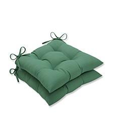 Sunbrella Dupione Paradise Wrought Iron Seat Cushion, Set of 2