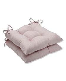 Sunbrella Chartres Rose Wrought Iron Seat Cushion, Set of 2