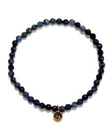 Satya Jewelry Dumortierite Gold Moon Stretch Bracelet