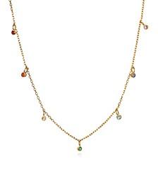 Genuine Stone 7-Chakra Choker Necklace