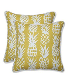 "Pineapple 16"" x 16"" Outdoor Decorative Pillow 2-Pack"