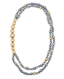 Robert Lee Morris Soho Mixed Pearl & Bead Double Row Necklace