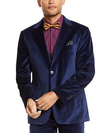 Men's Slim-Fit Velvet Suit Jacket Separate