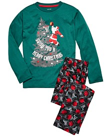 Big Boys 2-Pc. Swish Santa Pajama Set