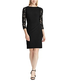 Lauren Ralph Lauren Jersey Lace-Sleeve Dress