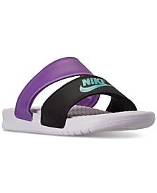 Women's Benassi Duo Ultra Slide Sandals from Finish Line