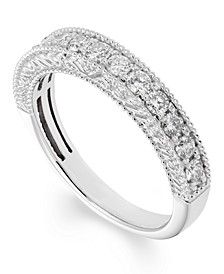Certified Diamond (1/2 ct. t.w.) Engraved Band in 14k White Gold