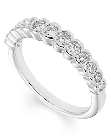 Certified Diamond (1/2 ct. t.w.)Band in 14K White Gold