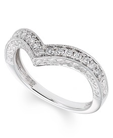 Certified Diamond (1/4 ct. t.w.) Band in 14K White Gold