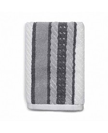 Cotton Textured Stripe Hand Towel