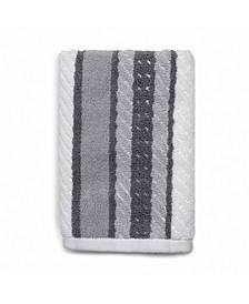 Cotton Textured Stripe Hand Towel