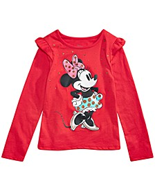 Little Girls Raining Stars Minnie Mouse T-Shirt