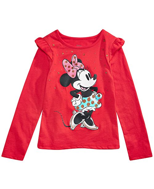 Disney Little Girls Raining Stars Minnie Mouse T-Shirt