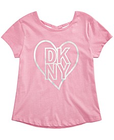 Big Girls Metallic Love Crisscross T-Shirt