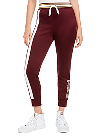 Cotton Side-Stripe Track Pants