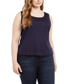 Eileen Fisher Plus Size Tencel Tank Top