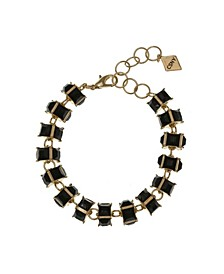 Christian Siriano Gold Tone Stone Clasp Bracelet
