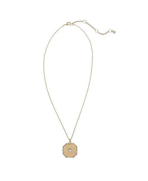 Christian Siriano Gold Tone Necklace Locket Pendant
