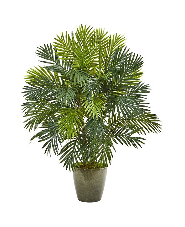 """Nearly Natural 35"""" Areca Palm Artificial Plant in Green Planter"""