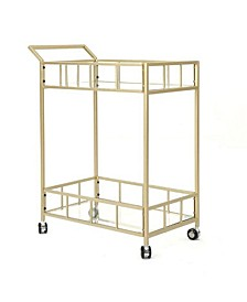 Fallon Indoor Industrial Bar Cart, Quick Ship