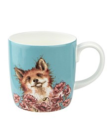 Wrendale Poppy Field Fox Mug