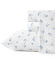 Sketchy Ditsy Cotton Percale Full Sheet Set