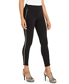Embellished Side-Stripe Leggings, Created For Macy's