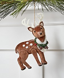 Santa's Favorites Fabric Reindeer Ornament, Created for Macy's