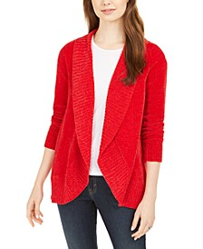Petite Chenille Shawl-Collar Cardigan, Created For Macy's