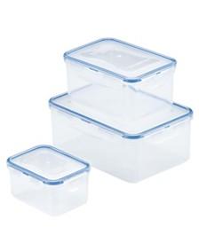 Lock n Lock Easy Essentials™ Rectangular 6-Pc. Food Storage Set
