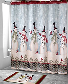 Tall Snowman Shower Curtain