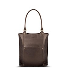 "Chambers Leather 16"" Bucket Tote"