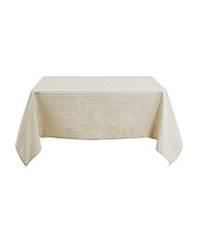 "Square Checkered Spillproof Wrinkle Resistant Tablecloth, 54"" W x 54"" L"