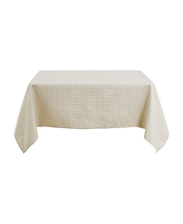 """DECONOVO Square Checkered Spillproof Wrinkle Resistant Tablecloth, 54"""" W x 54"""" L"""