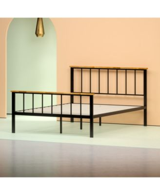 Brianne Metal and Wood Platform Bed, Twin