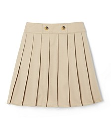 Big Girls Adjustable Waist Front Button Pleated Scooter