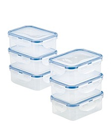Easy Essentials Rectangular 12-Oz. Food Storage Container Set, Set of 6