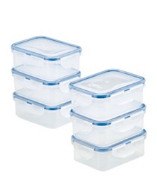 Lock n Lock Easy Essentials™ Rectangular 11-Oz. Food Storage Container Set, Set of 6