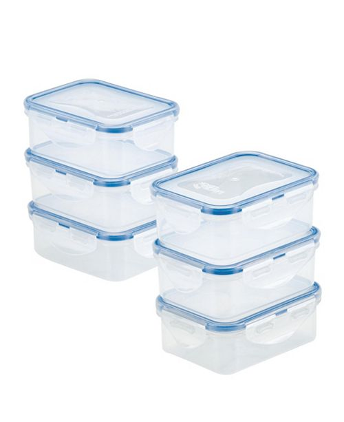 Lock n Lock Easy Essentials Rectangular 12-Oz. Food Storage Container Set, Set of 6