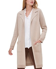 Tommy Hilfiger Long Open-Front Cardigan