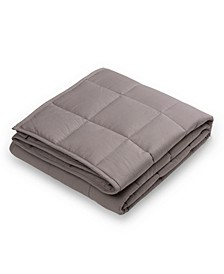 Cotton Shell Quilted 12lb Weighted Blanket, Twin
