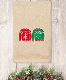Christmas Sweaters Embroidered 100% Turkish Cotton Hand Towel