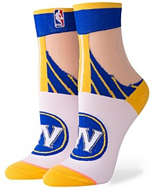Women's Golden State Warriors Monofilament Anklet Socks