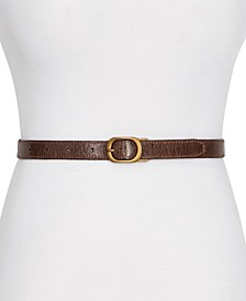 Frye & Co Reversible Skinny Leather Belt